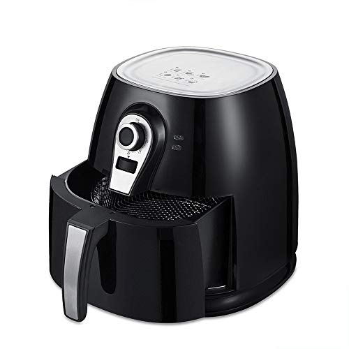 U Drive Auto Electric Air Fryer,3.8 QT Oilless Low Fat Multi Cooker with Non Stick and Detachable Basket with Timer and Temperature Control (Black)