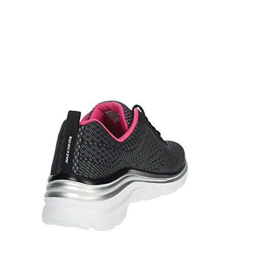 Mujer Bkhp Skechers Zapatillas hot Boundaries Fashion Para bold Negro black Fit Pink rnYYHPqF