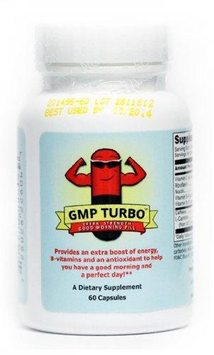 Bonjour pilule Turbo - Energie supplément de vitamine Extra Strength (200 mg de caféine + Vitamines) (60 capsules)