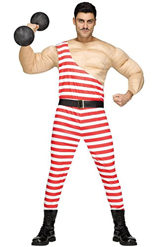 Fun World Men's Carny Muscle Man, Multi, STD. up to 6'/200 lbs