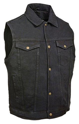 Black Motorcycle Vest - 4