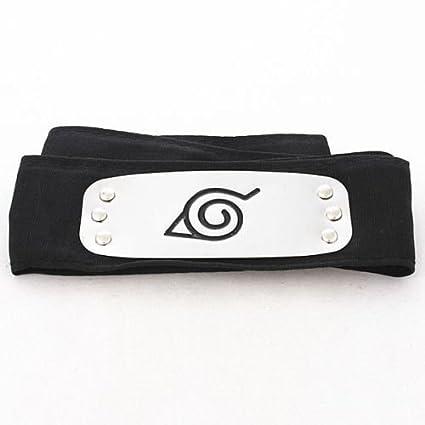 Naruto Leaf Village Headband Konoha Ninja High Quality Black Forehead Protector