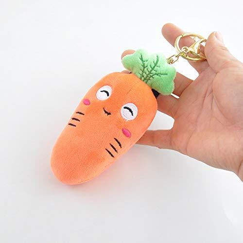 AchidistviQ Juguete suave de peluche, diseño de zanahoria de peluche suave con forma de llavero para colgar en la bolsa