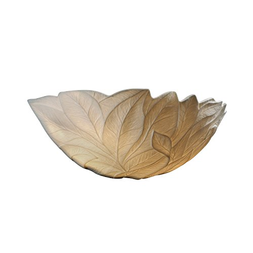 Justice Design Fan - Justice Design Group Limoges 1-Light Wall Sconce - Leaf Translucent Porcelain Shade