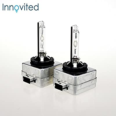 HID Xenon Low Beam Headlight Replacement Bulbs by Innovited - (Pack of two bulbs)