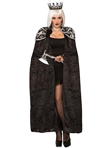 Forum Novelties 80716 Dark Royalty-Queen Cape, Black, us:one size -