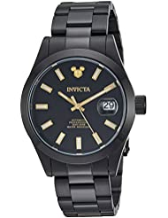 Invicta Mens Disney Limited Edition Automatic Stainless Steel Casual Watch, Color:Black (Model: 24970)