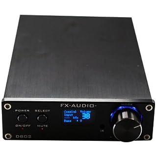 SainSonic FX Audio D802 2x80W 192KHz Digital Remote Power Amplifier with USB Cable (Black)