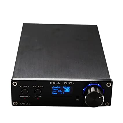 SainSonic FX Audio D802 2x80W 192KHz Digital Remote Power Amplifier with USB Cable (Black)
