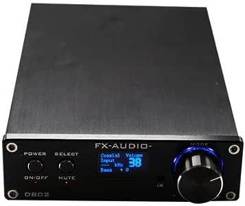FX Audio D802 2x80W 192KHz Digital Remote Power Amplifier with USB Cable (Black)