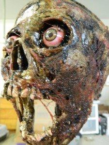 Halloween Horror Movie Prop Corpse Skull Head '' The Screamer'' by Dead Head Props