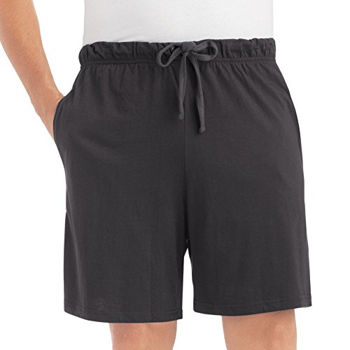 Cotton Jersey Knit Shorts (Mens Men's Jersey Knit Lounge Shorts, Black,)