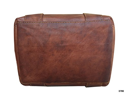 Leather Store 15.5'' Inch Handmade Leather Purse Handbag, Shopping Bag, Tote Bag, Handbag for Unisex