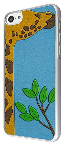 412 - Cute Giraffe Face Design iphone 5C Coque Fashion Trend Case Coque Protection Cover plastique et métal