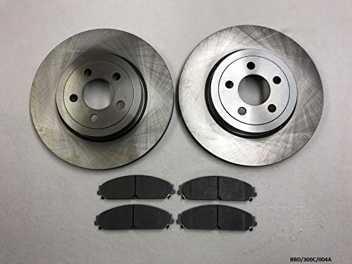 NTY 2 x Front Brake Disc & Pads 300C/ Charger/Challenger 2009-2019 345mm Disc Diameter: