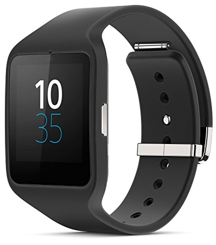 Sony SWR50 1.6-Inch Transflective Display SmartWatch 3 for Android wear Android 4.3 and onwards - Black - International Version No Warranty by Mobile Front