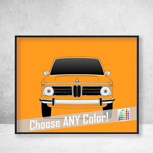 BMW 2002 Tii Ti Turbo 02 Series Poster Print Wall Art Decor Handmade
