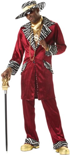 California Costumes Men's Sweet Daddy Beaujolais, Burgundy, -