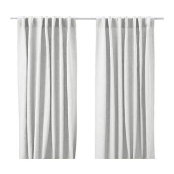 Ikea Gardine ikea aina gardinen 1 paar weiß 145x300 cm amazon de küche