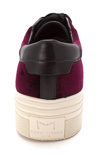 Marc Fisher Womens EMMY6 Velvet Low Top Lace Up Fashion, Purple, Size 8.5