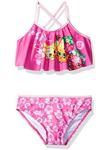 Shopkins Girls Swimwear Swimsuit (4, Pink SPK Bikini) (Lol Womens Crush Top)