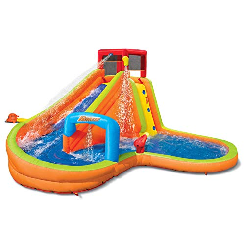 BANZAI Lazy River Inflatable Outdoor Adventure Water Park Slide and Splash ()