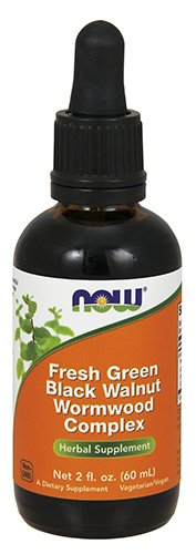 Now Foods Fresh Green Black Walnut Wormwood Complex, 2-Ounce