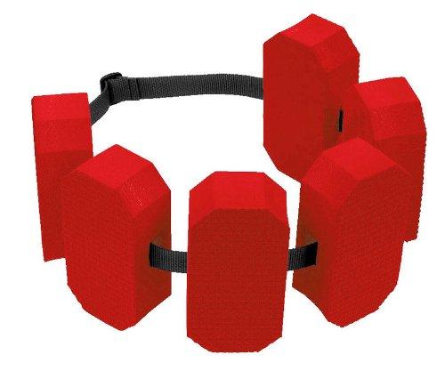 Schwimmgürtel 6-Block Rot 30-60 kg Wasser Sport Gürtel Aqua Fitness Aquagym