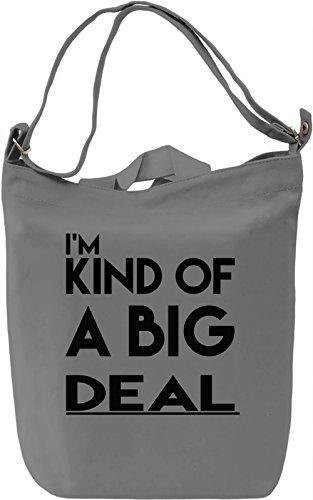 Big Deal Borsa Giornaliera Canvas Canvas Day Bag| 100% Premium Cotton Canvas| DTG Printing|