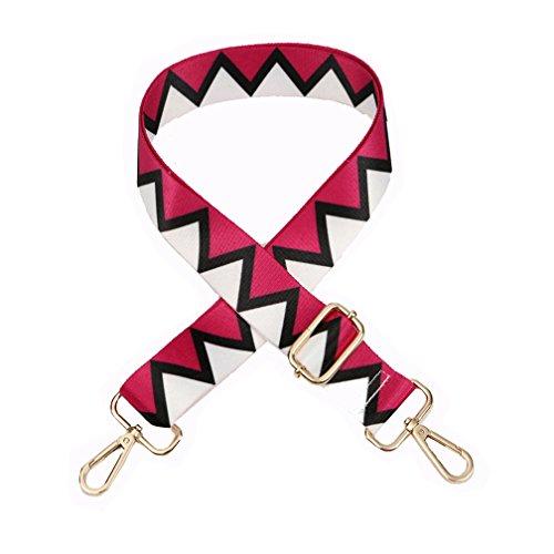 Accesorios de Rosa 140cm Cinturón Umily 80cm Correa Desmontables Recambio Para Del Cinturón Hombro Hombro Universal Ajustable Bolso Bolsa Mujeres roja De xCHC0wqpt