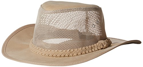 Dorfman Pacific Co. Men's Soaker with Mesh Sides, Natural, (Dorfman Pacific Mesh Safari Hat)