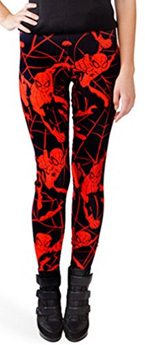 Thenice Women's Sexy Stretchy Leggings Pencil Pants (Spider-Man) -