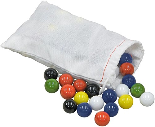 Marbles for Chinese Checkers, 60 pc, 10 each of 6 colors - Made in USA.