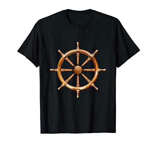 Ship / Boat Steering Wheel - Boating & Sailing T-Shirt T-Shirt
