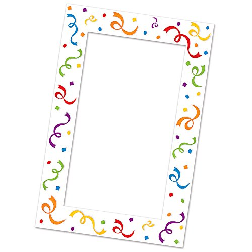 Beistle Serps and Confetti Photo Fun Frame, 15.5