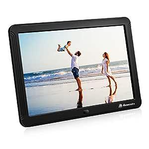 Powerextra Marco Digital de Fotos Videos y Música 8 Pulgadas Pantalla Full HD 16:9 1280 x 800 Soporte Reproductor Vídeo MP3 MP4 MPG M4V etc ...