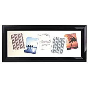 Inov8 Photo Frame, Black Gloss, 5 X 6 X 4-Inch, Pack Of 2