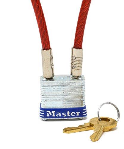 Multi Purpose 3 ft Master Lock 719D Motorcycle Helmet//Jacket Cable Lock