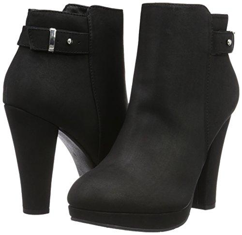 Back Jja16 Stivali schwarz black Corti Donna Nero Boot Strap 10 Bianco 7PwFTF