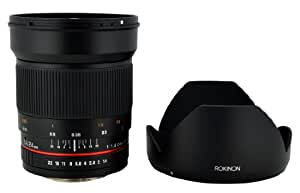 Rokinon 24mm F1.4 ED AS IF UMC Wide Angle Lens for Sony E-Mount (NEX) Cameras (RK24M-E)