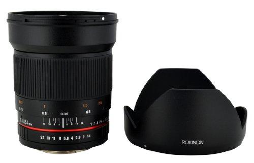 Rokinon 24mm F1.4 ED AS IF UMC Wide Angle Lens for Sony E-Mount (NEX) Cameras (RK24M-E) (24 Olympus 4 Light)