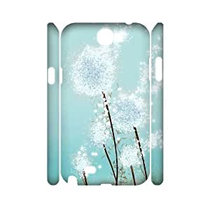 FLYBAI Painted Flower Phone 3D Case For Samsung Galaxy Note 2 N7100 [Pattern-3]