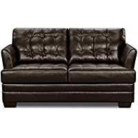 Simmons Upholstery 2055-02 Manhattan Espresso Loveseat