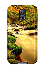 DFeVTPI1058TisNQ Tpu Phone Case With Fashionable Look For Galaxy S5 - Flowing Water Under The Bridge