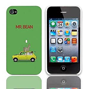 SHOUJIKE MR.BEAM Design Hard Case with 3-Pack Screen Protectors for iPhone 4/4S