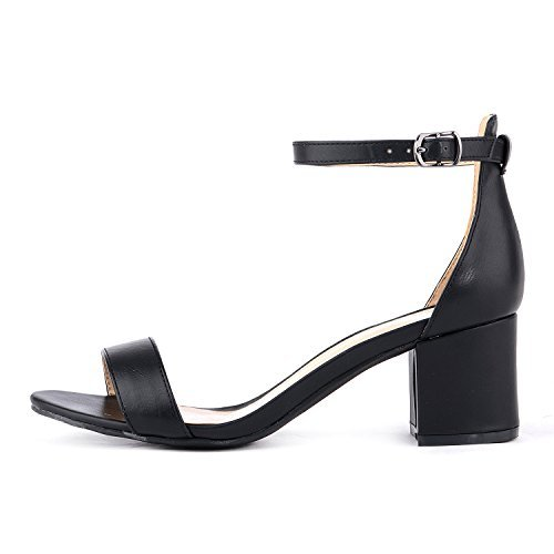 8db308f5210a Women s Heeled Sandals Ankle Strap Chunky High Heels 5CM Open Toe Low  Sandals Bridal Party Shoes Black Size 9 - Buy Online in Oman.