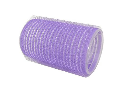 Self Grip Holding Hair Rollers Pro Salon Hairdressing Curlers Great For Fine Short Hair 16 Medium Size Self Stick Purple Color