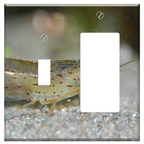 1-Toggle 1-Rocker/GFCI Combination Wall Plate Cover - Aquarium Inhabitants Amano Shrimp Freshwater