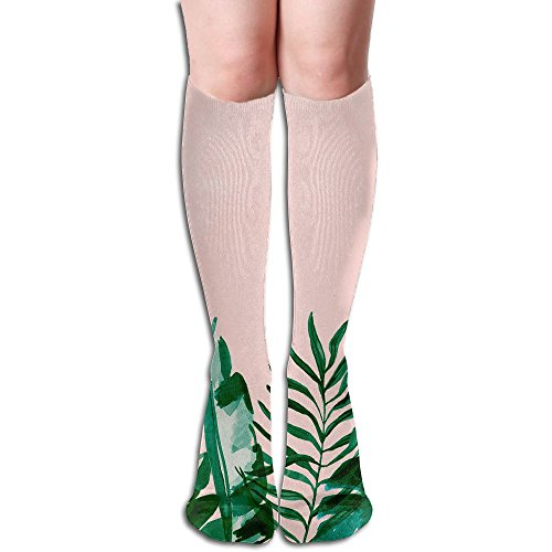 Long Stocking Green Leaves Women's Over Knee Thigh Winter Warm Sexy Stocks Knitting Welt]()