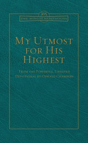 Download One-Minute Utmost Promo Edition (ONE MINUTE MEDITATIONS) by Oswald Chambers (2009-03-01) pdf epub